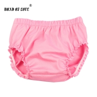 2019 New Fashion Solid Baby Shorts Baby Girl Ruffle Bloomers Diaper Cover Newborn Photography Props Toddler Bloomers YC048