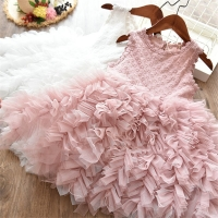 1-12 Years Sequin Girl Baptism Dress 2019 New Sleeveless tutu Big bow Kid Dresses Girls Clothes Party Princess Birthday Vestidos