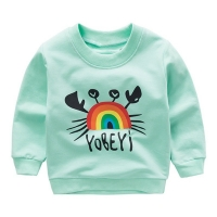 Baby Boys Girls Sweatshirts Autumn Spring Cartoon Cotton Tops Children Baby Long Sleeve Sweatshirt Blouse Children Clothes New