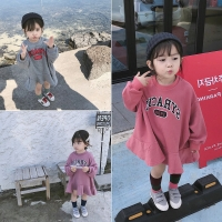 2018 Autumn New Arrival korean version cotton Loose style all-match casual Letters printed hoodie for cute fashion baby girls