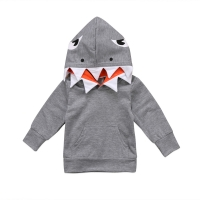 Unisex Toddler Kids Baby Boys Girls Shark Hooded Tops Hoodie Pocket Jacket Coat Outerwear Casual NEW