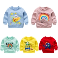 Baby Print Pullover Tee Autumn Winter Kids Sweatshirt Tops Long Sleeve T-shirt Boys Girls Child Baby Clothes