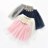 Tutus Skirt for Baby Girls Pettiskirt meisjes para falda tutu bebe applique Sequin Stars 3 Layers Tulle Toddler Dance Skirts
