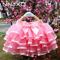 Princess Girls Tutu Skirts Baby Ballerina Skirt Baby Girl Birthday Party Elastic Waist Pettiskirt Dancewear Candy Color Skirt