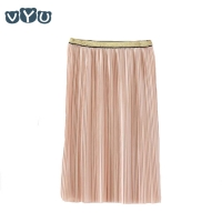 2018 Velvet Pleated Skirt Pleated Smooth Long Skirt Summer Winter New Casual Loose Kids High Waist Elastic Children Girls Skirts