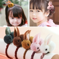 Cute Animals Rabbit  Style Hair Bands Felt Three-Dimensional Plush Rabbit Ears Headband For Children Girls Hair Accessories